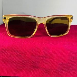 Oliver Peoples Beige Maceo Sunglasses w/Brown Lens
